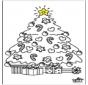 Criança com árvore de Natal 2