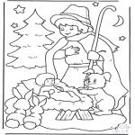 Natal - Criança no comedoiro