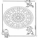 Pinturas Mandala - Crianças geo mandala 1