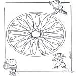 Pinturas Mandala - Crianças geo mandala 2