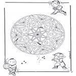 Pinturas Mandala - Crianças geo mandala 3