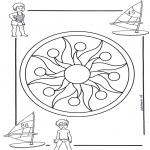 Pinturas Mandala - Crianças mandala 1