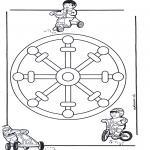 Pinturas Mandala - Crianças mandala 11