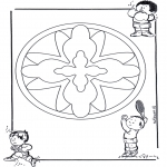 Pinturas Mandala - Crianças mandala 16