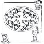 Pinturas Mandala - Crianças mandala 17