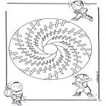 Pinturas Mandala - Crianças mandala 18