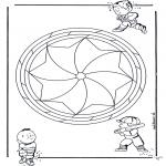 Pinturas Mandala - Crianças mandala 19