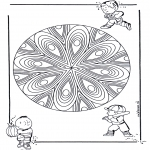 Pinturas Mandala - Crianças mandala 20