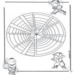 Pinturas Mandala - Crianças mandala 22