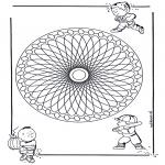 Pinturas Mandala - Crianças mandala 23
