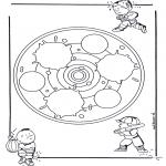 Pinturas Mandala - Crianças mandala 24