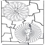 Pinturas Mandala - Crianças mandala 25