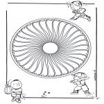 Pinturas Mandala - Crianças mandala 27