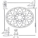Pinturas Mandala - Crianças mandala 5