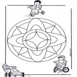 Pinturas Mandala - Crianças mandala 7