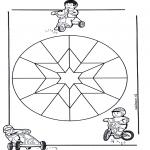 Pinturas Mandala - Crianças mandala 9