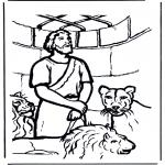 Pinturas bibel - Daniel no antro de leões 1