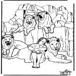 Pinturas bibel - Daniel no antro de leões 3