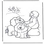 Pinturas bibel - Daniel no antro de leões