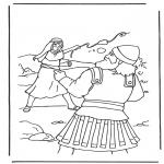 Pinturas bibel - David e Golias 2