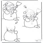 Inverno - Desenho de boneco de neve