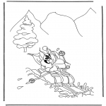 Personagens de banda desenhada - Diddl na neve