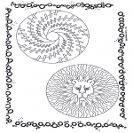 Pinturas Mandala - Dois mandalas 2