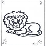 Animais - Encontro do leão