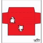 Natal - Envelope - Boneco de neve