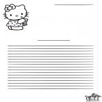 Ofícios - Escrita - Hello Kitty
