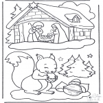 Natal - Esquilo na neve
