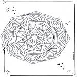 Pinturas Mandala - Estrela mandala 2