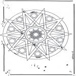 Pinturas Mandala - Estrela mandala
