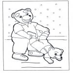 Crianças - Família urso