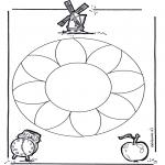 Pinturas Mandala - Flores mandala  1