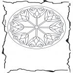 Pinturas Mandala - Flores mandala  3