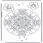 Pinturas Mandala - Flores mandala 7