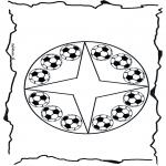 Pinturas Mandala - Futebol mandala