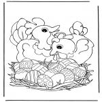 Tema - Galinhas com ovos de Páscoa