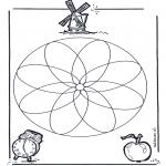 Pinturas Mandala - Geo mandala 1