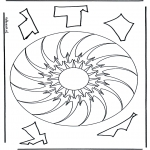 Pinturas Mandala - Geo mandala  10