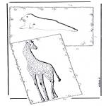 Animais - Girafa e cavalo marinho