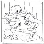Personagens de banda desenhada - Huguinho, Zezinho e Luisinho 1