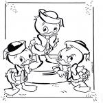Personagens de banda desenhada - Huguinho, Zezinho e Luisinho