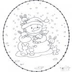 Inverno - Inverno Cartão de recortar 1