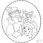 Inverno - Inverno Cartão de recortar 2