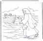 Jesus andando na água
