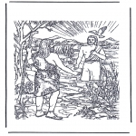 Pinturas bibel - Jesus baptizado