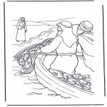 Pinturas bibel - Jesus cerca da água