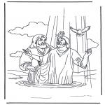 Pinturas bibel - Jesus e João Baptista